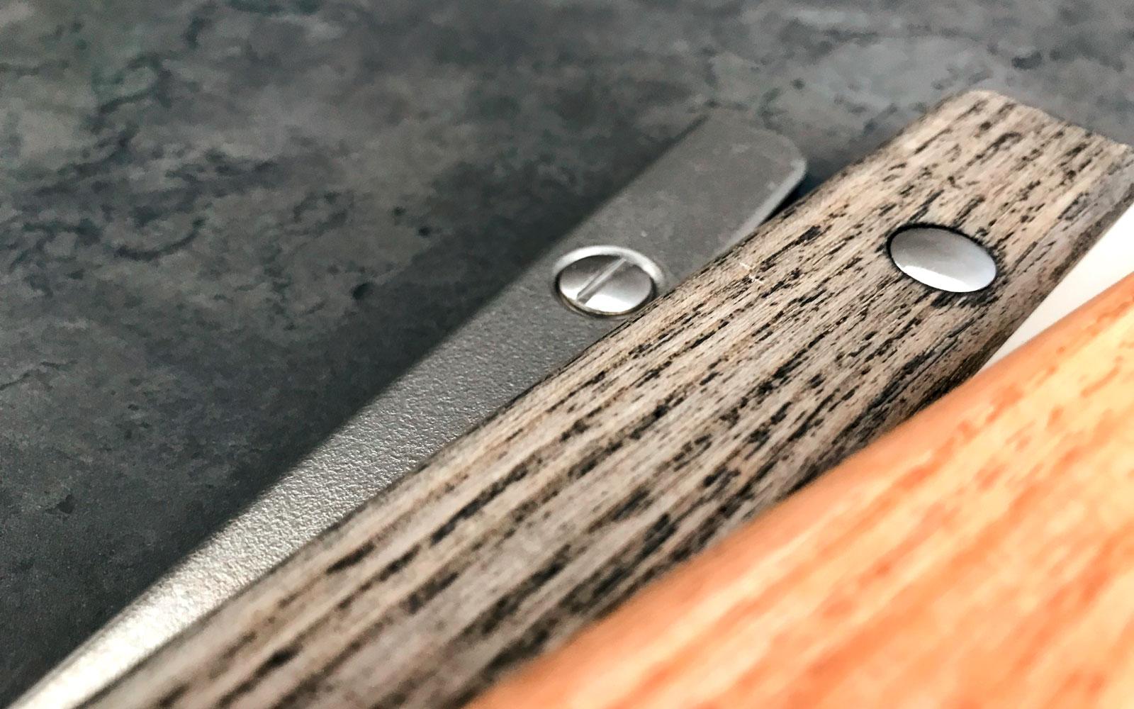 Premiumkarte Holzschiene Metallschiene